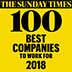 Sunday Times – 100 Best Companies to work for 2018